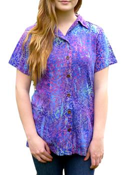 Womens wholesale batik shirts by squish for Men s batik bay silk blend button down shirt